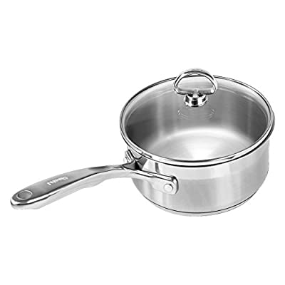 Chantal Induction 21 Steel Saucepan with Glass Lid