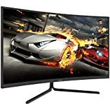 VIOTEK NV32Q True 4K Monitor 32-Inch Curved | 60Hz 4ms (OD) Streaming-Ready 3840 x 2160p Monitor for Gaming/Movies | HDR-Ready 1500R VA Panel w/FreeSync | HDMI 2.0 DP 1.2 Audio Out (VESA)