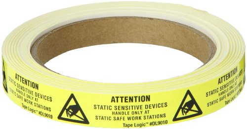 Static Warning Labels - Tape Logic DL9010 Anti Static Attention Label, Legend