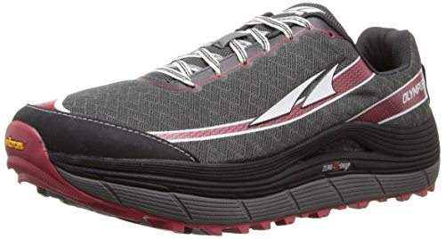 Altra Men's Olympus 2 Trail Running Shoe, Pewter/Racing Red, 9.5 M US