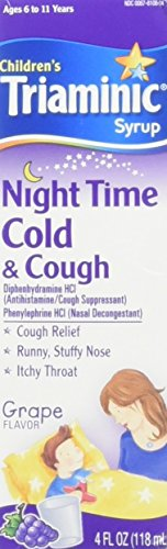 Triaminic Children's, Night Time, Cold & Cough Syrup, Grape - 4 oz, Pack of 2