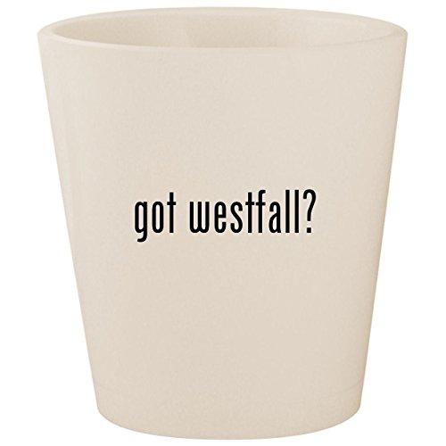 (got westfall? - White Ceramic 1.5oz Shot Glass)