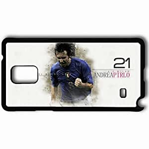 Personalized Samsung Note 4 Cell phone Case/Cover Skin Andrea pirlo Black