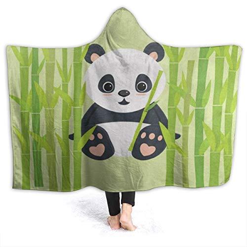 Halloween Jamberry Games (OuLian Hooded Blanket Sweet Panda Bamboo Tree Wearable Fleece Blankets Soft Warm for Kid Adults Women Men Throw Cuddle Poncho Cloak Cape 50