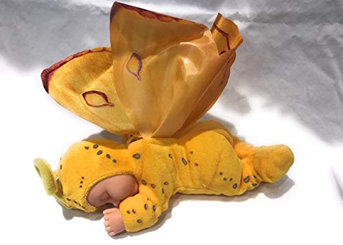 Anne Geddes Yellow Bean Bag Butterfly Baby Plush Doll 9""