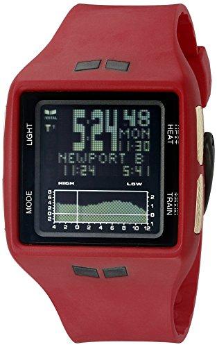 Vestal-Unisex-BRGOLD04-Brig-Digital-Display-Quartz-Red-Watch