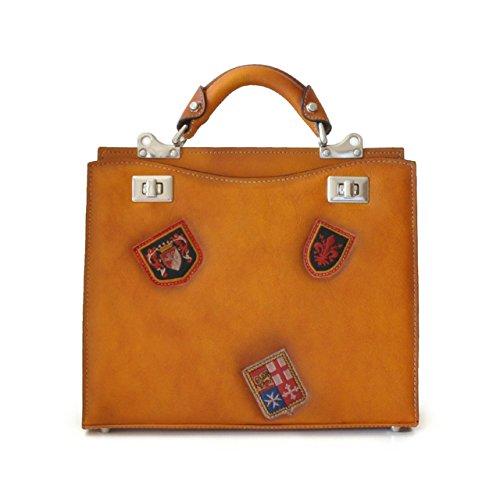 Pratesi - Anna Maria Luisa de' Medici - B150/32 Bruce - Sac de taille moyenne pour femme, cognac (Multicolore) - PR-B150/32