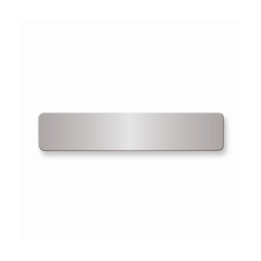1/2 x 2 3/8 Polished Alum Plates-Sets of 6