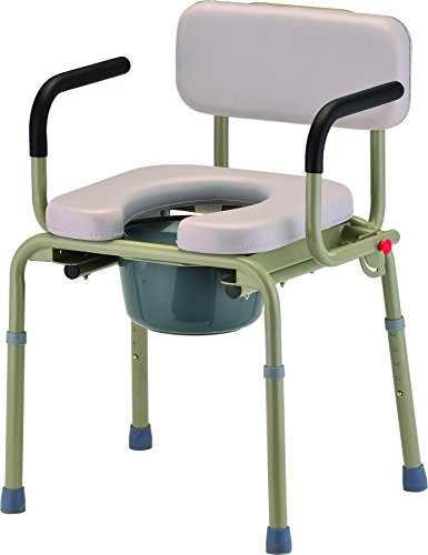 NOVA Medical Products Padded Drop-Arm Commode, 21.5 Pound