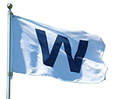 The Wrigley Field 'W' 3' X 5' Banner Flag Is Printed With A Win Logo, So You Can Show Everybody Who Won That Day. With Brass Grommets, This Flag Is Ready To Hang On A Flag Pole. It Also Works Great As Wall Decor For The Man Cave Or Game Room!...