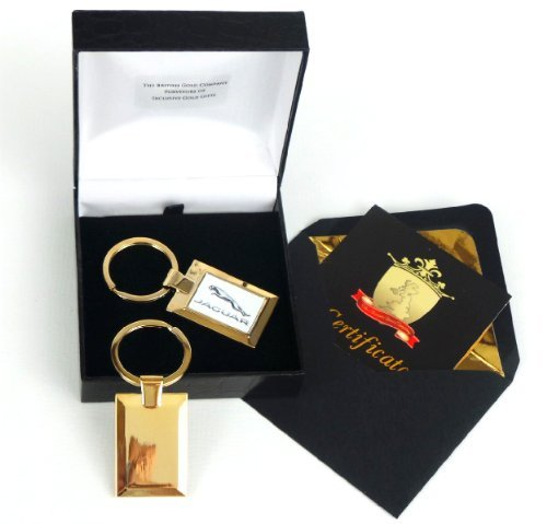 The British Gold Company 24K Gold Finished Jaguar Keyring Designer by The British Gold Company