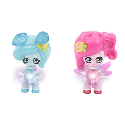 Glimmies GLN013 - 2 Rainbow Friends 6 Cm - Modèles Bunnybeth/ Volaria