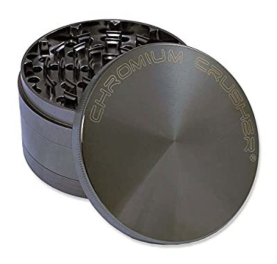 "Chromium Crusher 4.0"" Heavy Duty Durable Zinc Tobacco Spice Herb Grinder by Chromium Crusher"