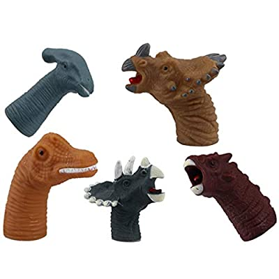5PCS Finger Toy Realistic Dinosaur Creative Finger Puppet Role Playing Toy: Everything Else