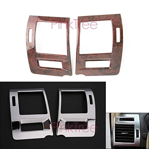 Exterior Parts For Toyota Land Cruiser Prado 150 2010-2013 2014-2018 Interior Air Vent Cover Chrome/Wooden Color Styling Accessories - (Color: Wooden Color)