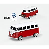 mosDART Cool 16GB USB2.0 Flash Drive Jump Drive Classic Volkswagen T1 Bus 1:72 Scale (VW Bus,Red)