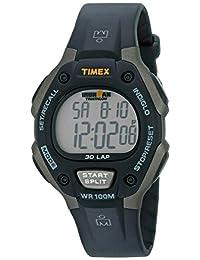 Timex Men's T5E9019J Ironman Traditional 30-Lap Gray/Black Resin Strap Watch
