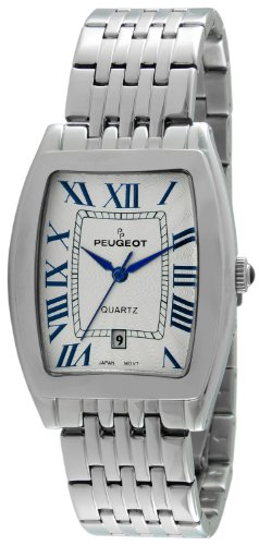 Peugeot Men's 1041S Stainless Steel Watch with Link Bracelet