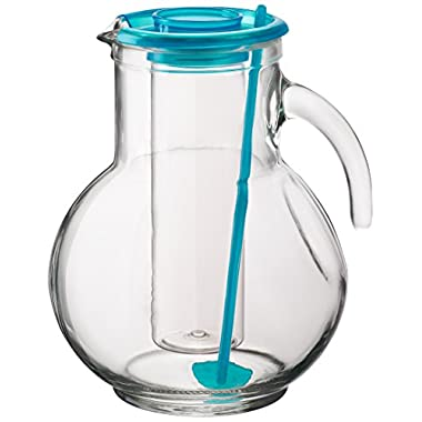 Bormioli Rocco Kufra Jug Ice Container with Lid, Sky Blue