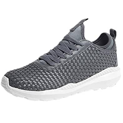 Urban Fit Men's Sneakers Waterproof Ultra Lightweight Breathable Athletic Running Walking Gym Shoes Gray Size: 6.5
