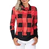 AopnHQ Hoodies for Women Pullovers, Blouse Striped Tops Plus Size Sweatshirts,Women's Sport Long Sleeve Shirts Clothing Red