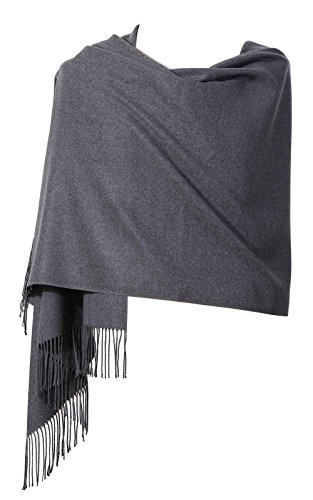 Womens Pashmina Shawl Wrap Scarf - Ohayomi Solid Color Cashmere Stole Extra Large 78