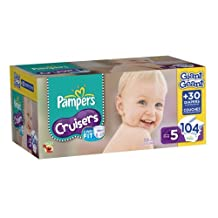 Pampers Cruisers Diapers Size 5 Giant Pack, 104 Count by Pampers