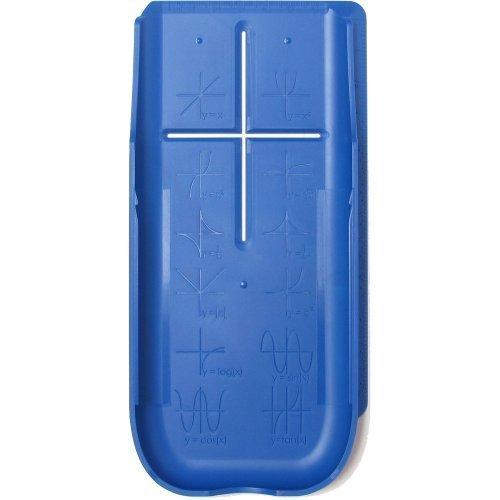EZ Graphing Blue Hard Slide Case-Cover for TI 84 Plus, TI 84 Plus C Silver Edition Color, TI 89 Titanium Graphing ()