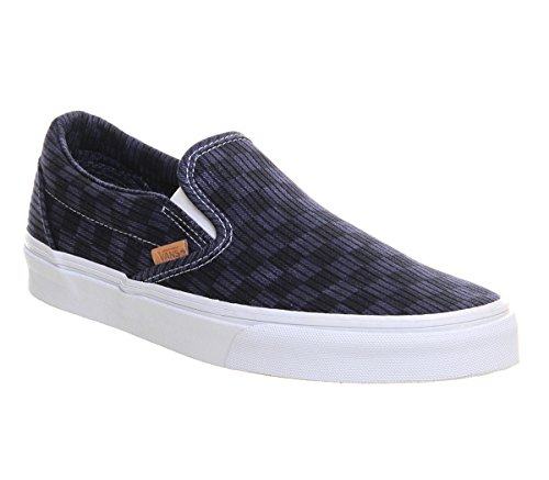 Vans Washed Herringbone Classic Slip-On CA (Gold / Check) Blue/ Check