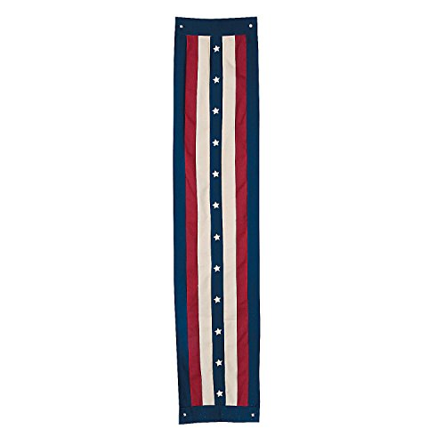 Set of 2 Americana Patriotic Pride Flag Vintage Flag Stars Stripes Doorway Entrance Flanking Vertical Post Column Pillar Bunting