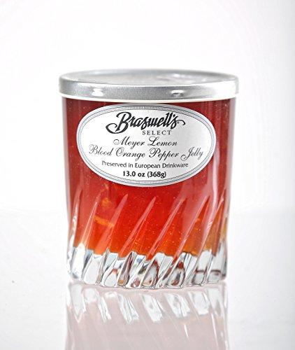 Braswell's Select Meyer Lemon Blood Orange Pepper Jelly in Collectible Drinkware - 13 Oz (Meyer Lemon Blood Orange - Blood Jelly