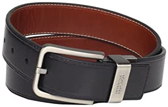 """Kenneth Cole REACTION Men's Brown Out 1-1/2"""" Leather Reversible Belt, Brown/Black, 32"""