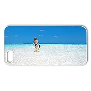 Maldives - Case Cover for iPhone 5 and 5S (Beaches Series, Watercolor style, White)