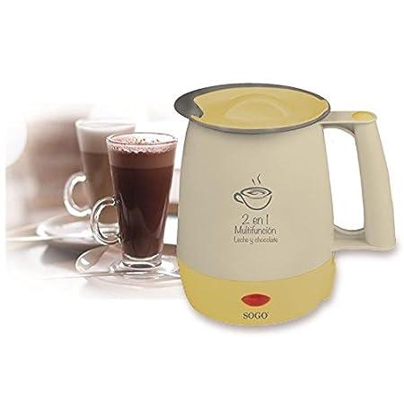 Sogo KET-SS-5775- Hervidor multifunción para leche, chocolate y agua, 400 W, 1.0 litros