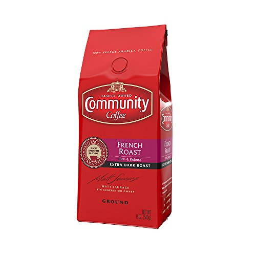 Community Coffee French Roast Ground, 12 Ounce