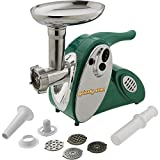 Grizzly T25226 Portable Meat Grinder with Stainless Steel Cutting Plates