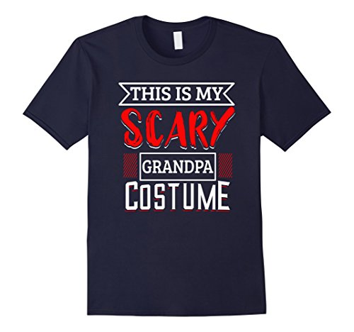 Mens Funny Halloween Costumes For Adults - Scary Grandpa T-Shirt Large Navy