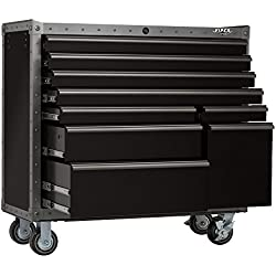 Viper Tool Storage VV4109BLT-R Armor Series 41-Inch 9-Drawer Rolling Tool Cabinet, Black with Rivet Trim