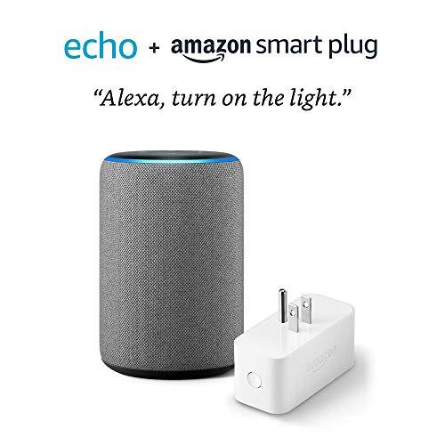 All-new Echo (3rd Gen) bundle with Amazon Smart Plug – Heather Gray