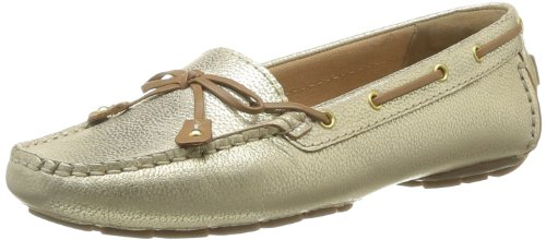 Clarks Dunbar Racer Damen Ballerinas - Ivoire (Metallic Leather)
