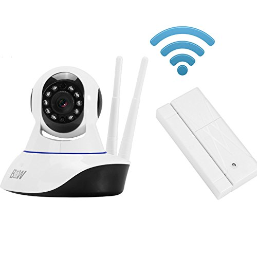 Y-FLY® HD Wireless WiFi IP Camera Double antenna Home Security Surveillance Camera Baby Pet Monitor Rotatable Alarming Security System with Night Vision and Door Sensor