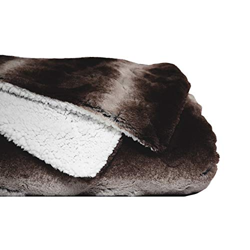 - Faux Fur Queen Size Bed Blanket | Super Soft Fuzzy Lightweight Design | Luxurious Cozy, Warm, Fluffy, Plush Blanket for Bed or Couch | Dark Gray/Black