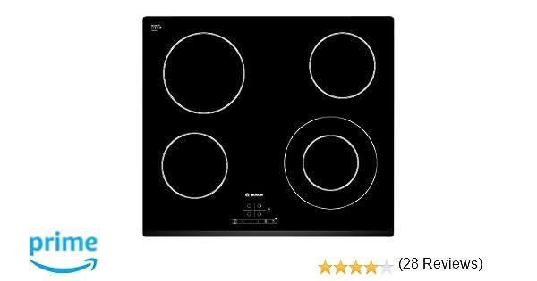 Bosch PKF631B17E Serie I 4 - Placa de cocina vitrocerámica de 60 cm de ancho, terminación bisel delantero, 4 zonas de cocción, control táctil, color ...