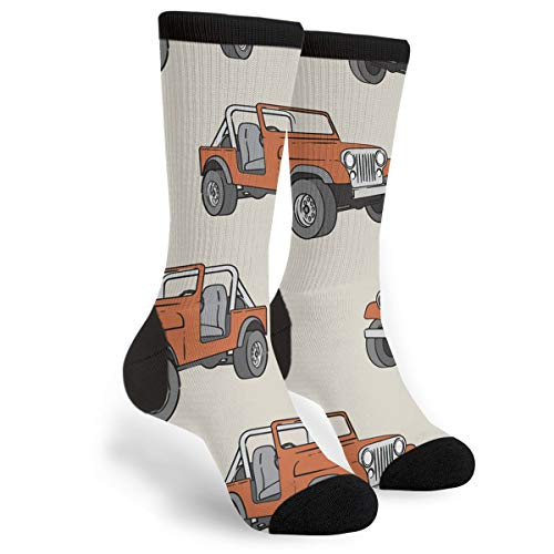 - Beige Rust Orange Off-road Vehicle Youth Male Mens Boys Teen Kid Unisex Ankle Themed Clothing Gifts Party Clothes Dresses Quarter Dress Mid Calf Knee Crew Socks Calf Knit Hosiery