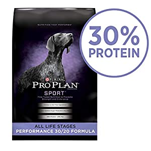 Purina Pro Plan High Protein Dry Dog Food; SPORT Performance 30/20 Formula - 37.5 lb. Bag 120