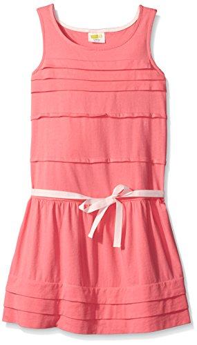 Crazy 8 Big Girls' Pleated Knit Dress, Bubble Gum, Medium/7-8 (Dress Pleated Knit)