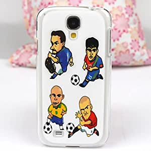 ZXC The Cartoon Football Pattern PC Back Case for Samsung S4/I9500