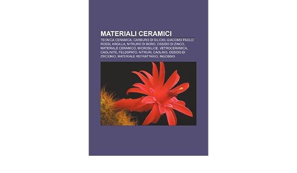 Materiali ceramici: Tecnica ceramica, Carburo di silicio, Giacomo Paolo Rossi, Argilla, Nitruro di boro, Ossido di zinco, Materiale ceramico: Amazon.es: ...