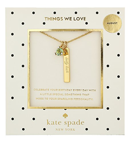 kate spade new york August Peridot Pendant Necklace