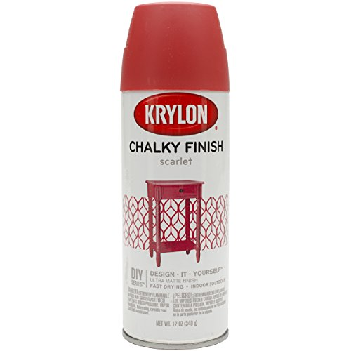 Frisco Spray (Krylon K04115000 Chalky Finish Spray Paint, Scarlet, 12 Ounce)